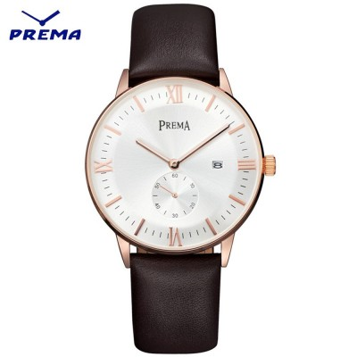 4GL Prema Luxury Leather Watch Ultra Thin Quartz Watch Jam Tangan