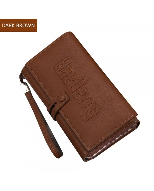 4GL Baellerry S1393 Men Women Long Wallet Purse Bag 20 Card Slot