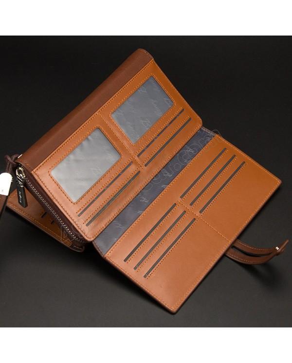 4GL Baellerry Men Women Long Wallet Purse Bag 20 Card Slot S1393