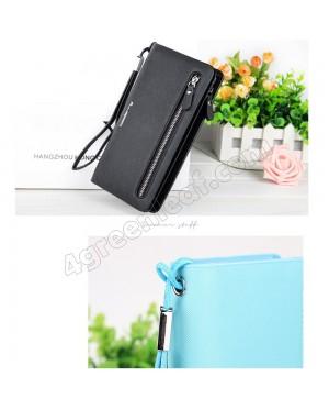 Baellerry N1502 Handphone Purse Long Zipper Wallet Wristlet