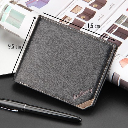 4GL Baellerry DG128 CROSS Short Purse Men Women Leather Wallet Purse Dompet