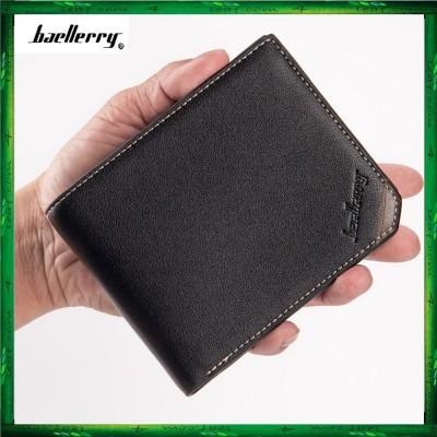 Baellerry Men Women Wallet Short Purse Leather DG128
