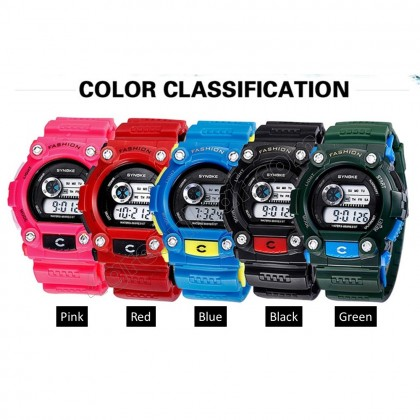 4GL Synoke 001 Unisex Men Women Water Resistant Digital Sport Watch Watches
