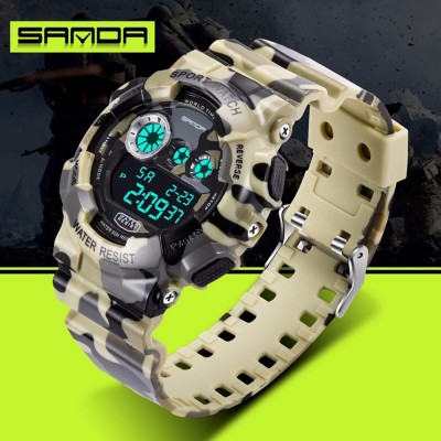 4GL Sanda Camouflage Waterproof Digital Sport Watch Jam Tangan 289