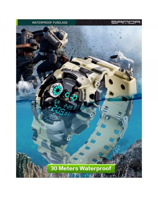 4GL Sanda 289 Camouflage Waterproof Digital Sport Watch Jam Tangan