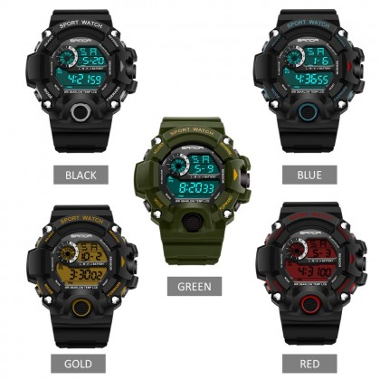 4GL Sanda 326 Unisex Water Resistant Digital Sport Watch Jam Tangan