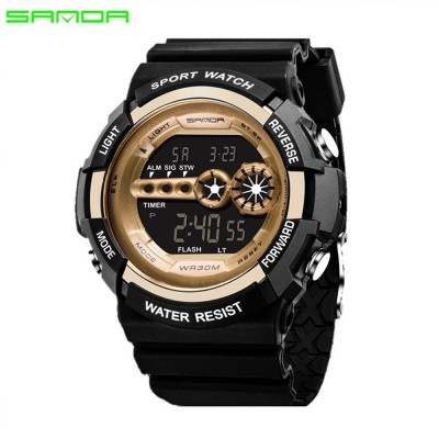 4GL Sanda Men Women Water Resistant Digital Sport Watch Jam Tangan 320