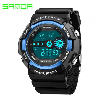 4GL Sanda 320 Watch Men Women Water Resistant Digital Sport Watch Jam Tangan