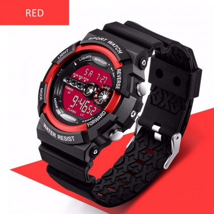 4GL Sanda 320 Men Women Water Resistant Digital Sport Watch Jam Tangan