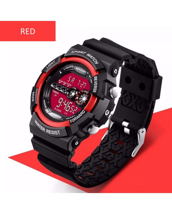 4GL Sanda 320 Men Women Water Resistant Digital Sport Watch Jam Tangan