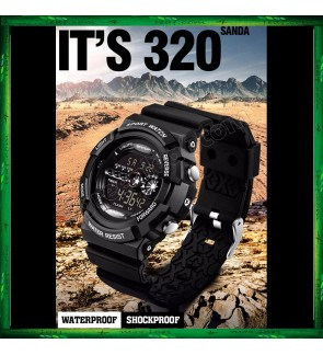 Sanda 320 Unisex Men Women Water Resistant Digital Sport Watch Watches