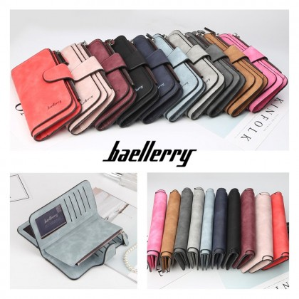 4GL Baellerry N2345 Purse Long Zipper Wallet Wallets Wristlet
