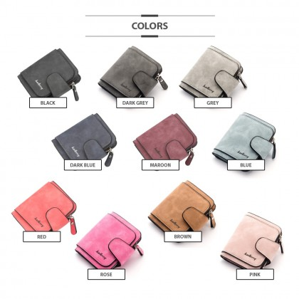 4GL Baellerry N2346 Short Purse Women Zipper Wallet Wristlet