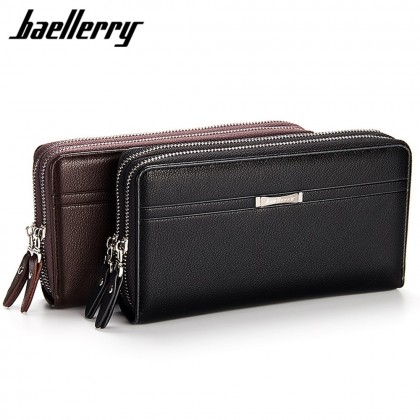 4GL Baellerry SA417 Men Women Long Wallet Purse Leather Bag Big Capacity
