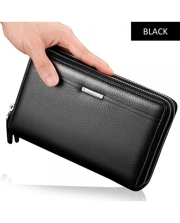 4GL Baellerry SA417 Men Women Long Wallet Purse Leather Bag Big Capacity