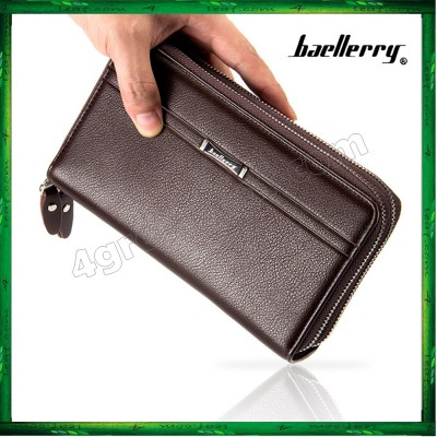 Baellerry Men Women Long Wallet Purse Leather Bag Big Capacity SA417