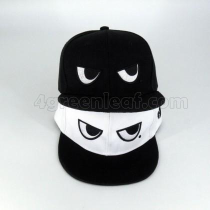 BlackWhite Eyes Snapback Cap Topi