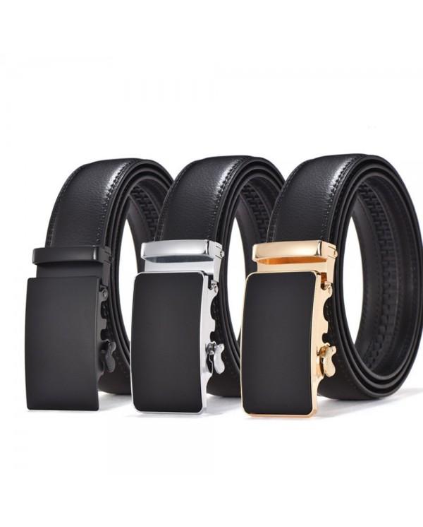 Business YK Series Men Leather Automatic Buckle Belts Luxury Belt