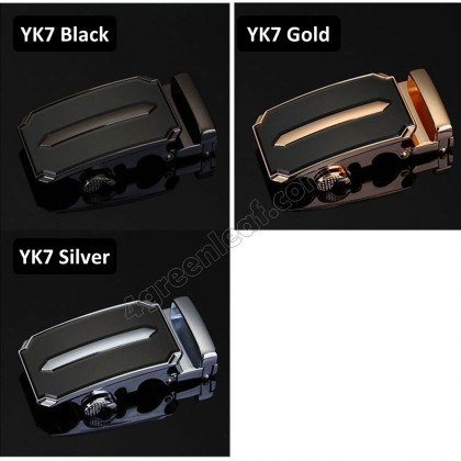Business YK Series Men Leather Automatic Buckle Belts Luxury Belt