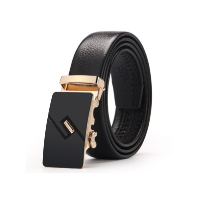 4GL LB04 Business Men Leather Automatic Buckle Belts Luxury Belt