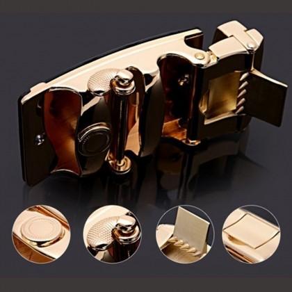 4GL LB04 Business Men Leather Automatic Buckle Belts Luxury Belt