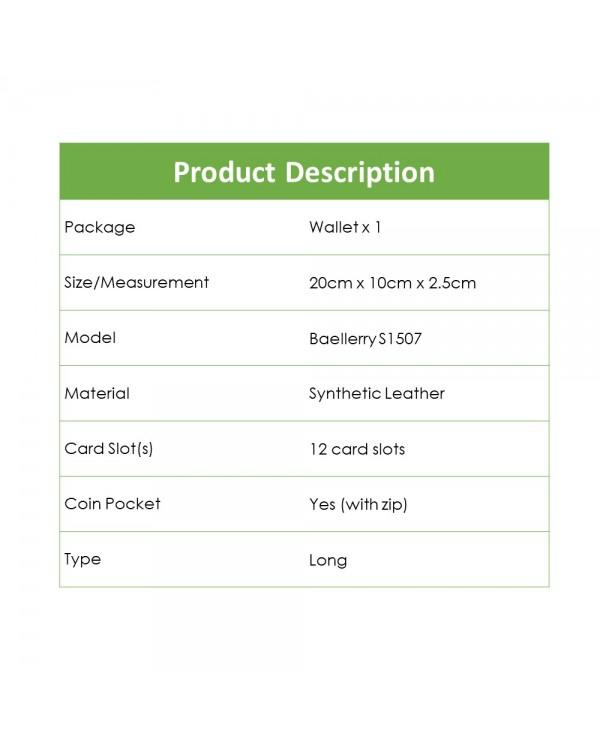 4GL Baellerry S1507 Premium Leather Long Wallet Purse
