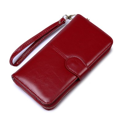 4GL Fashion Lady Oil Wax Leather Purse Wallet Wallets H980