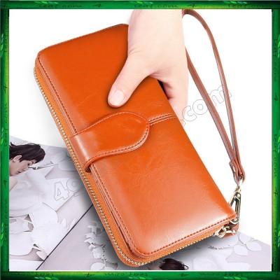 Fashion Lady Oil Wax Leather Purse Wallet Wallets H980