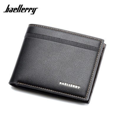 4GL BAELLERRY Minimalist Simple Men Short Wallet Leather Dompet DR003
