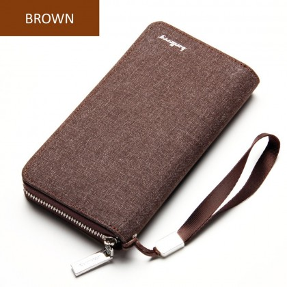 4GL Baellerry S1522 Long Wallet Canvas Purse Dompet