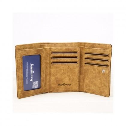 4GL Baellerry 3688 Short Wallet Men Canvas Wallet Wallet Card Holder Purse Dompet