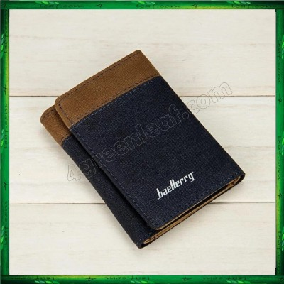 Baellerry Man Canvas Mens Wallets Card Holder Purse D3688