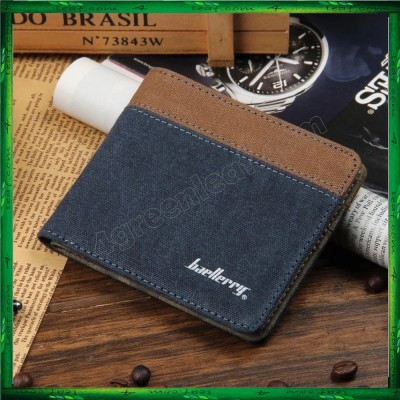 Baellerry Canvas Mens Wallets Card Holder Multi Pockets Credit Card Purse 3288