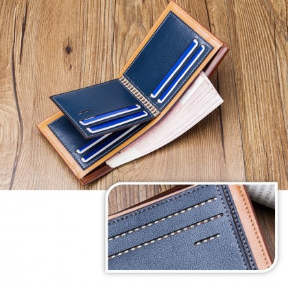 4GL Baellerry DR007 Short Wallet Fashion Minimalist Men Short Wallet Leather Purse Dompet