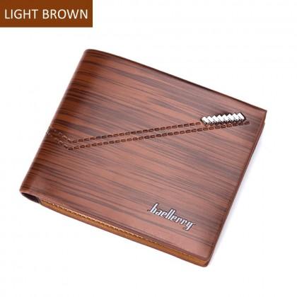 4GL BAELLERRY Fashion Minimalist Men Short Wallet Leather Purse Dompet DR007