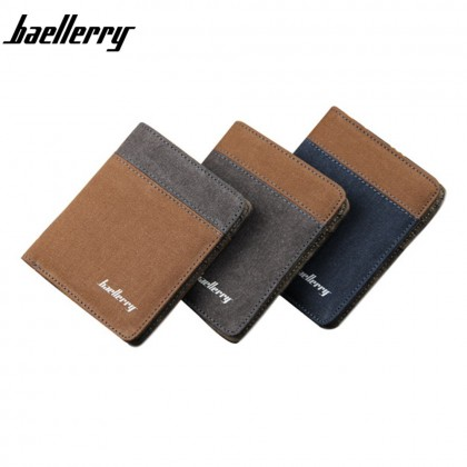 4GL Baellerry D3388 Canvas Men's Wallet Purse Dompet Vertical