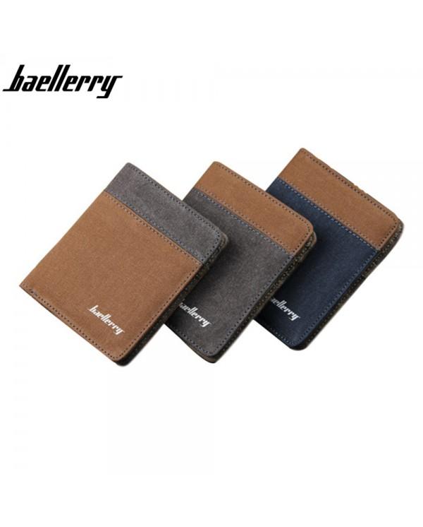 4GL Baellerry D3388 Canvas Men's Wallet Purse Dompet Vertical