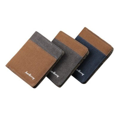 4GL Baellerry Canvas Vertical Men's Wallet Purse Dompet 3388