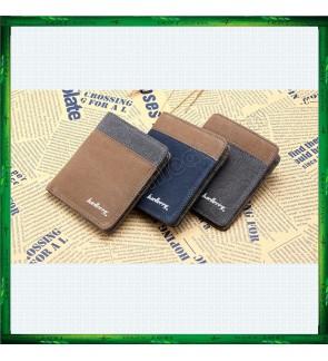 Baellerry Canvas Vertical Men's Wallet Purse 3388