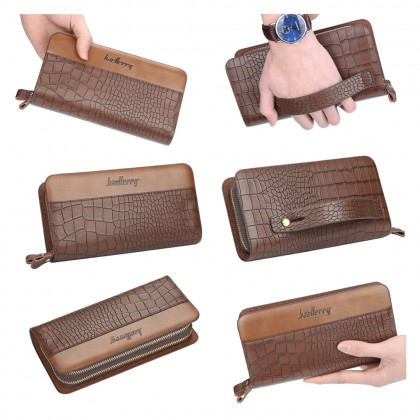 4GL Baellerry S6331 Crocodile Pattern PU Leather Men Wallet Purse Clutch Handbag