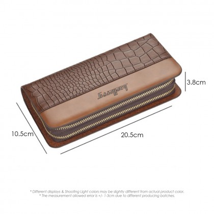 4GL Baellerry S6331 Long Wallet Crocodile Pattern PU Leather Men Wallet Purse Clutch Handbag