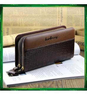 Baellerry Crocodile Pattern PU Leather Men Wallet Purse Clutch Handbag S6331