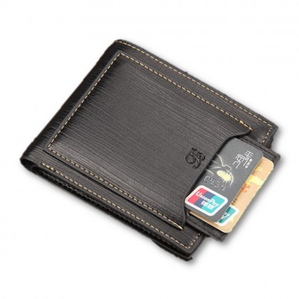4GL BAELLERRY Men Short Wallet Wallets Leather Purse Dompet D2316
