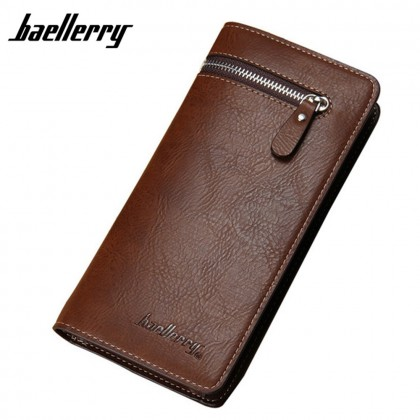 4GL Baellerry 128-3 Long Wallet Designer Purse Men Wallet Card Holder
