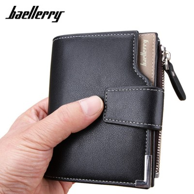 4GL BAELLERRY Men Women Wallet Short Purse Dompet Leather D1282
