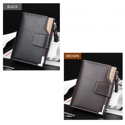 4GL Baellerry D1282 Short Wallet Men Women Purse Dompet Leather