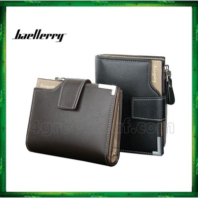 Baellerry Men Women Wallet Short Purse Leather D1282