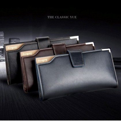 4GL Baellerry CK20 Men Women Wallet Long Purse Leather Dompet (without zip)