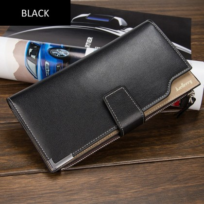 4GL Baellerry CK20 Long Wallet Men Women Purse Leather Dompet (without zip)