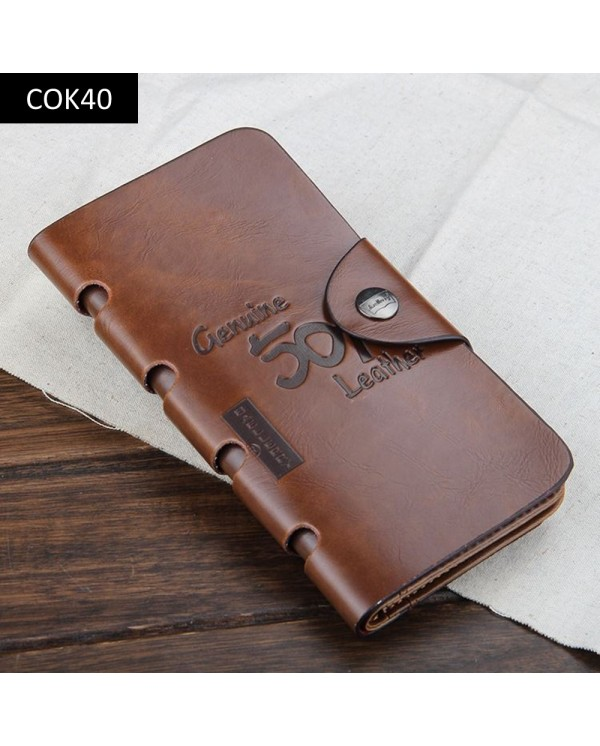4GL Baellerry COK Retro Leather Wallet Long Purse Leather Dompet